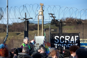 SCRAP TRIDENT DEMO at Faslane 30th November 2014