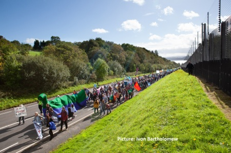 NAE NUKES INTERNATIONAL MARCH AND RALLY AT FASLANE.  22nd SEPTEM